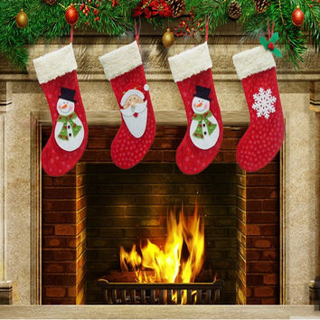 Hobbies&Home, Fashion, Christmas presents, red Christmas stockings, snowmen socks, gift socks = 1945752580