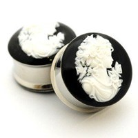 Cameo Resin Plugs gauges - 00g, 1/2, 9/16, 5/8, 3/4, 7/8, 1 inch