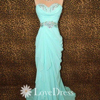 Cheap Strapless Prom Dress 2013, Evening Dress, Blue Prom Dress, Formal Dresses