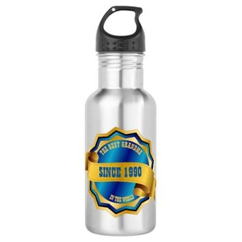 The Best Mom, Dad, Grandma, Grandpa, Sister, Bro Water Bottle