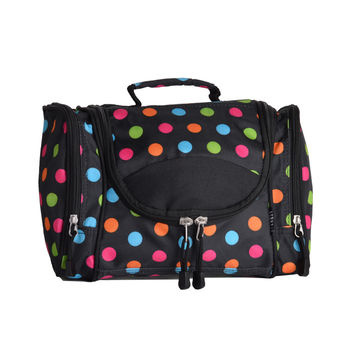 Women's Toiletry Cosmetic Bag - Polka Dot