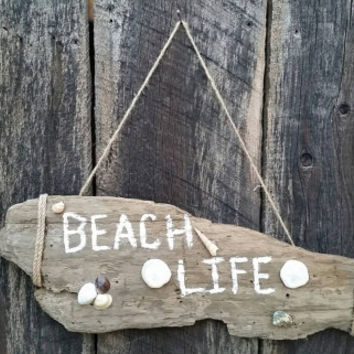 Reclaimed Driftwood Wall Art/Reclaimed Beach Wood/Beach Life/Cottage Beach Upcycled Home Decor/Pacific Coast Driftwood