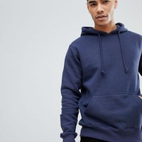 Pull&Bear Hoodie In Navy at asos.com