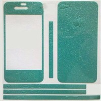 Highsound Flash Shiny Screen Full Body Protector Sticker Cover Film Case for iPhone 4 4S Emerald