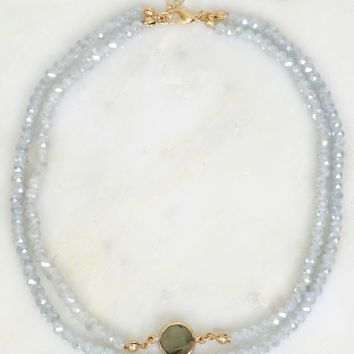 Sparkle & Stone Beaded Choker Blue
