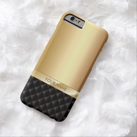Modern Luxury Gold with Custom Name iPhone 6 case