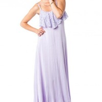 Ashlee Maxi Dress in Lavender - ShopSosie.com