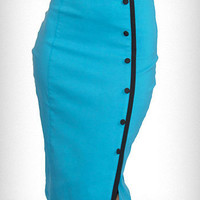 Turquoise Tease Pencil Skirt