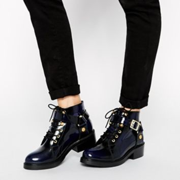 ASOS AM I DREAMING Leather Ankle Boots