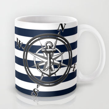 Navy Striped Nautica Mug by Nicklas Gustafsson