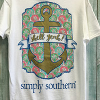 """Simply Southern """"Shell Yeah"""" Tee - White"""