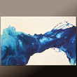 Abstract Canvas Art Painting 36x24 Blue Original Contemporary Paintings by Destiny Womack - dWo - In Icy Winds