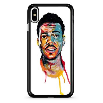 Acrylic Painting Of Chance The Rapper iPhone X Case