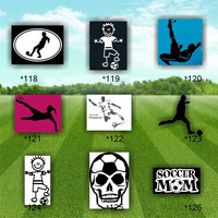 SOCCER vinyl stickers - 118-126 - customizable vinyl decals - car window stickers