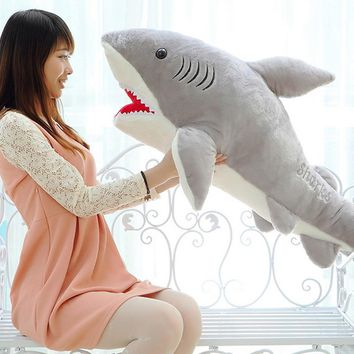 1 PC 70cm Shark Plush Toy Stuffed Pillow Doll Birthday  for  Kids Baby Children Boys Girls Gifts VBT69 T0.5