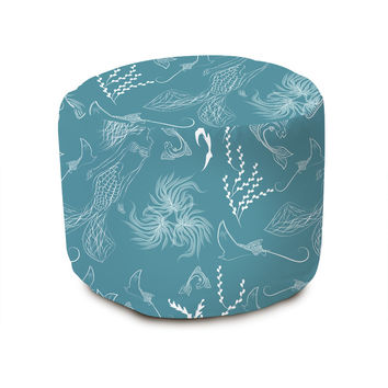 Ocean Mermaid Pouffe