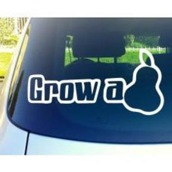 Grow A Pear diecut Car Window Vinyl Decal Tablet PC Sticker