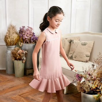Pink Ruffle Drop Waist Dress (toddler/girl)