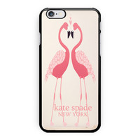 New Kate Spade Pink Flamingo Pattern Print On Hard Plastic Case For iPhone 6s
