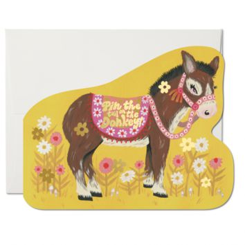RED CAP CARDS PIN THE TAIL DONKEY CARD