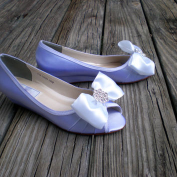 Wedding Wedge Low heel -- 1 inch wedge shoes