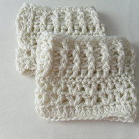 Boot cuffs, cream color, price is for 1 pair, boot topper, crochet, soft, stylish, warm, leg warmers