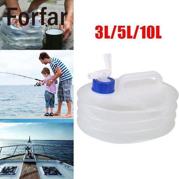 DCCK7N3 Forfar 3L 5L 10L Folding Water Carrier Container Collapsible Water Bucket For Camping Hiking Picnic BBQ Outdoor Tools