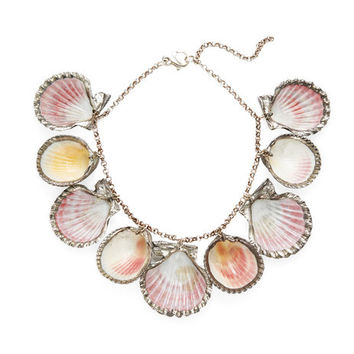 Sterling Silver Dipped Sea Shell Necklace by Paolo Costagli at Gilt