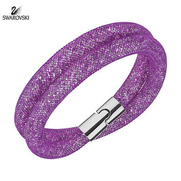 Swarovski Crystal Jewelry STARDUST Light Purple Double Bracelet Medium 5184791
