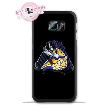 Minnesota Vikings Football Glove Case For Galaxy S8 S7 S6 Edge Plus S5 S4 mini active Ace Win S3 Core Note 4 2