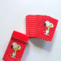 Vintage Miniature Travel Deck Snoopy Playing Cards 1980s