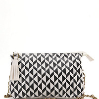 With Love From CA Black White Geo Print Gusset Bag at PacSun.com