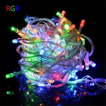 led christmas light string holiday light 10m 20m 30m 50m 100m with remote controller Christmas decoration for Home holiday party