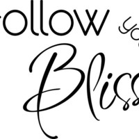 Follow Your Bliss Wall Decal Quote Sticker, Joseph Campbell Quote