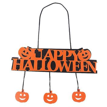 Ghost Festival Decoration Pumpkin Pendant Halloween Label Window Ghost Festival Accessories Pumpkin Hanger Holiday Party