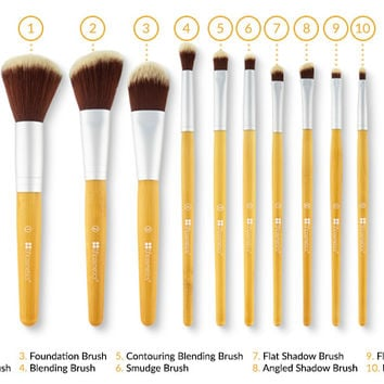 Eco Luxe - 10 Piece Brush Set