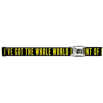 Sleeping With Sirens Men's  I've Got The Whole World In Front Of Me Seatbelt Buckle Belt
