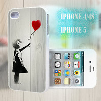 unique iphone case, i phone 4 4s 5 case,cool cute iphone4 iphone4s 5 case,stylish plastic rubber cases cover, funny girl balloon p 994