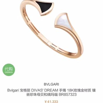 2018 New Trending Bvlgari logo Snakes high carbon AAAA masonry bracelet hand chain in 18K gold plating S925 Silver Hollowed out