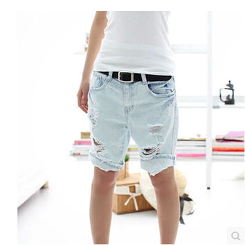 2013 Fashion Dog Pattern Embroidery Pocket Lady Lace denim Jeans short Women Hole Denim Short Pants S/M/L/XL in stock
