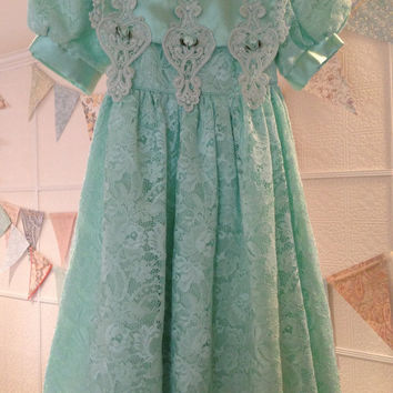 Vintage - Lace Me Fancy Girl's Dress Size 6 - Easter Dress