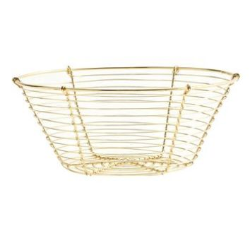 Shiny Gold Storage Basket