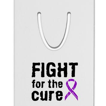 Fight for the Cure - Purple Ribbon Crohn's Disease Aluminum Paper Clip Bookmark