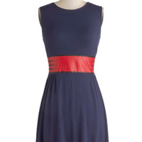 Sleeveless A-line Clever the Optimist Dress