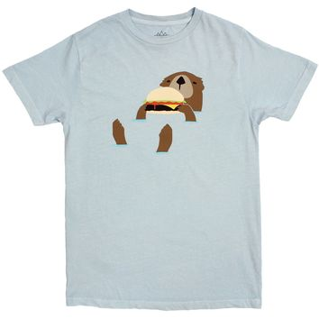 Otter Eating Hamburger graphic tee by Altru Apparel S & 2XL Only)
