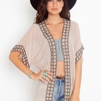 Caged Kimono Jacket in  Clothes at Nasty Gal