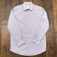 Ben Sherman Tailoring Button Up Cotton Shirt Mens 16 32-33 (Tailored Slim Fit)