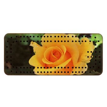 Yellow Rose Cribbage Board