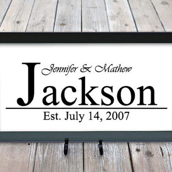 Personalized Last Name, Wedding Gift, Anniversary, Engagement, Family name signs, Family Established Sign, Family Name Gifts, Wall Decor