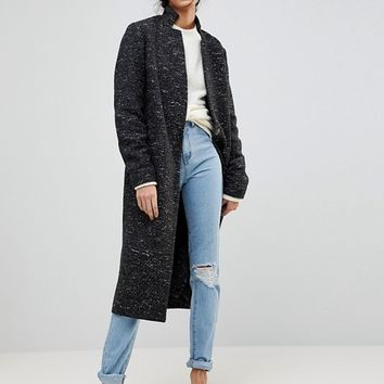 ASOS TALL Oversized Coat in Textured Fabric at asos.com